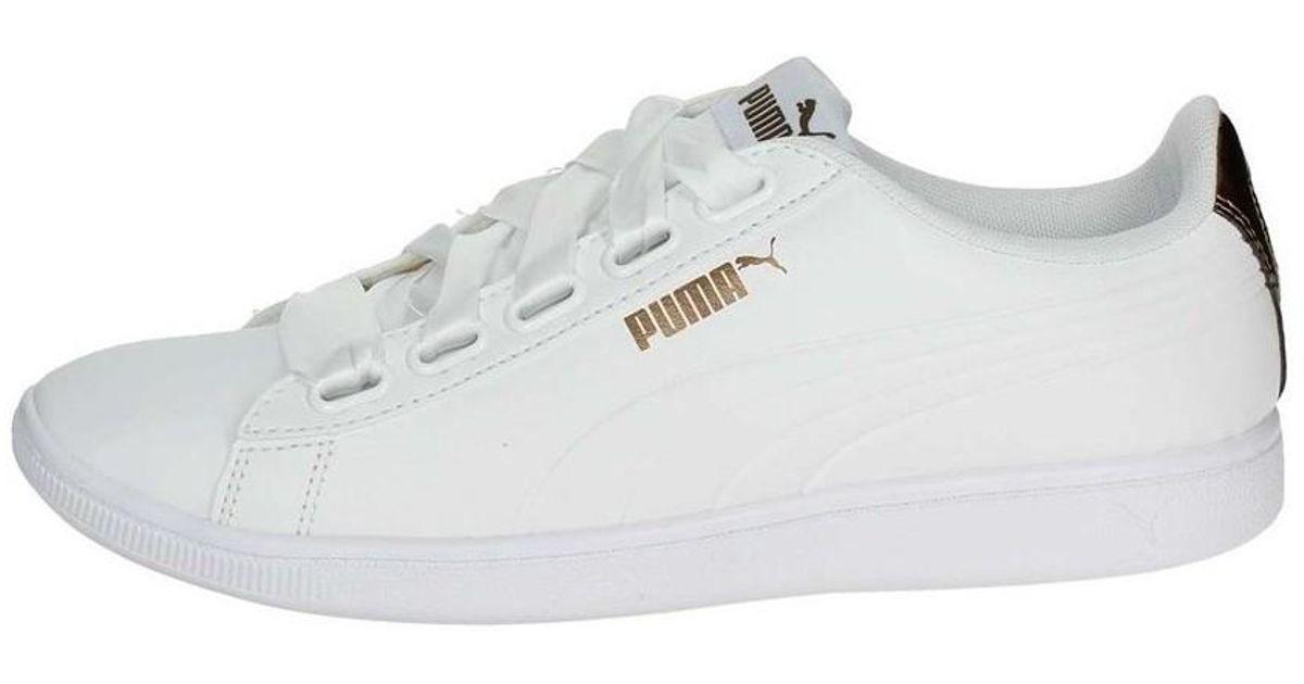 PUMA Vikky Ribbon Sl Metallic Women's Shoes (trainers) In White