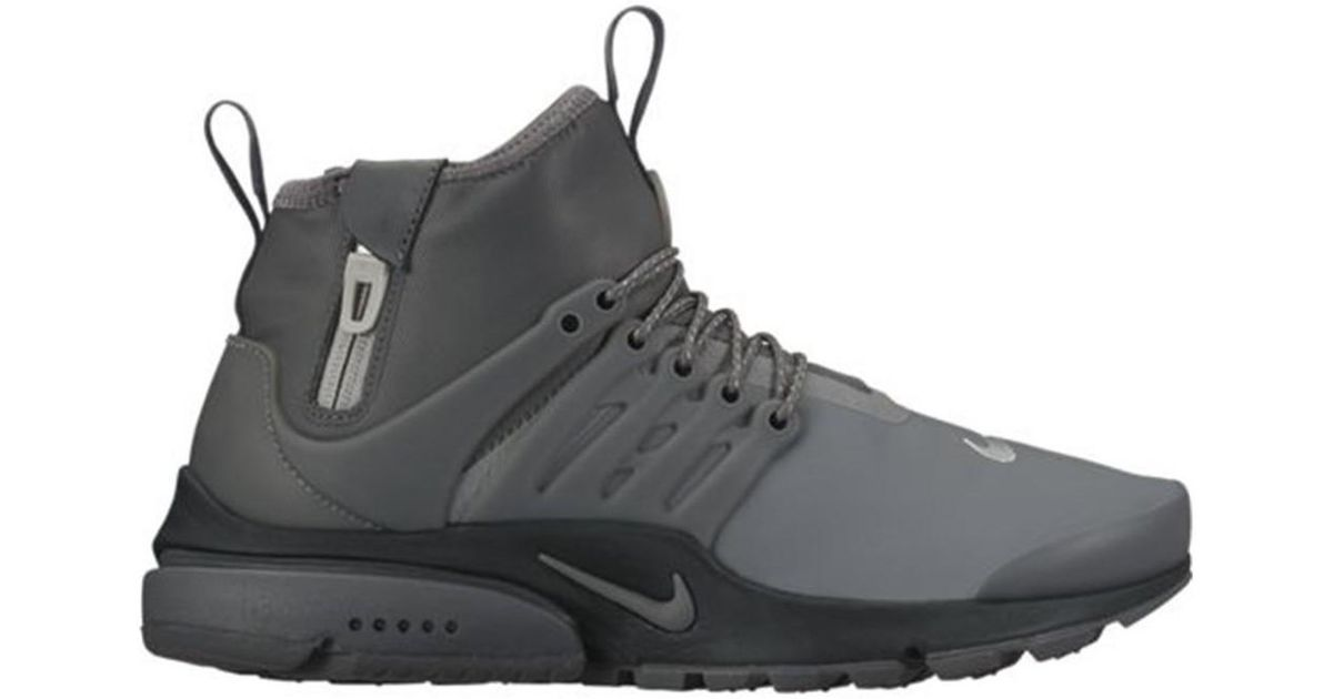 tanie jak barszcz na stopach o sprzedaż uk Nike Metallic Air Presto Utility Midtop Women's Shoes (high-top Trainers)  In Silver