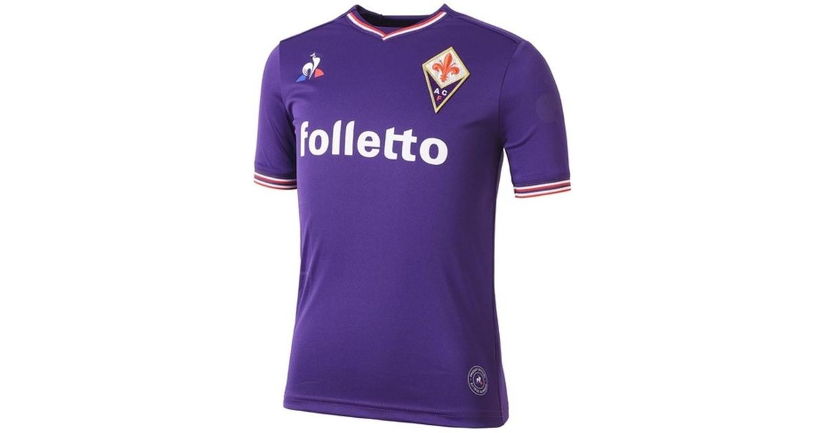 Le Coq Sportif 2017-2018 Fiorentina Home Football Shirt (kids) Women s T  Shirt In Purple in Purple - Lyst 5d053bf074