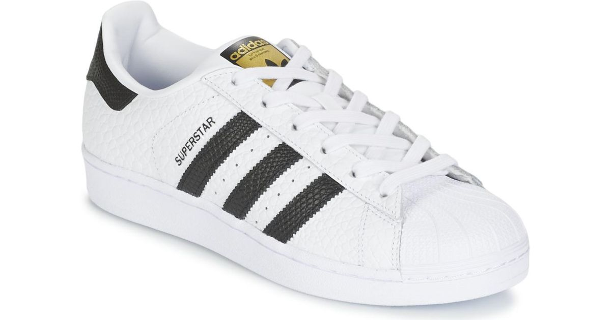 Adidas Superstar Animal Women's Shoes (trainers) In White in White - Lyst