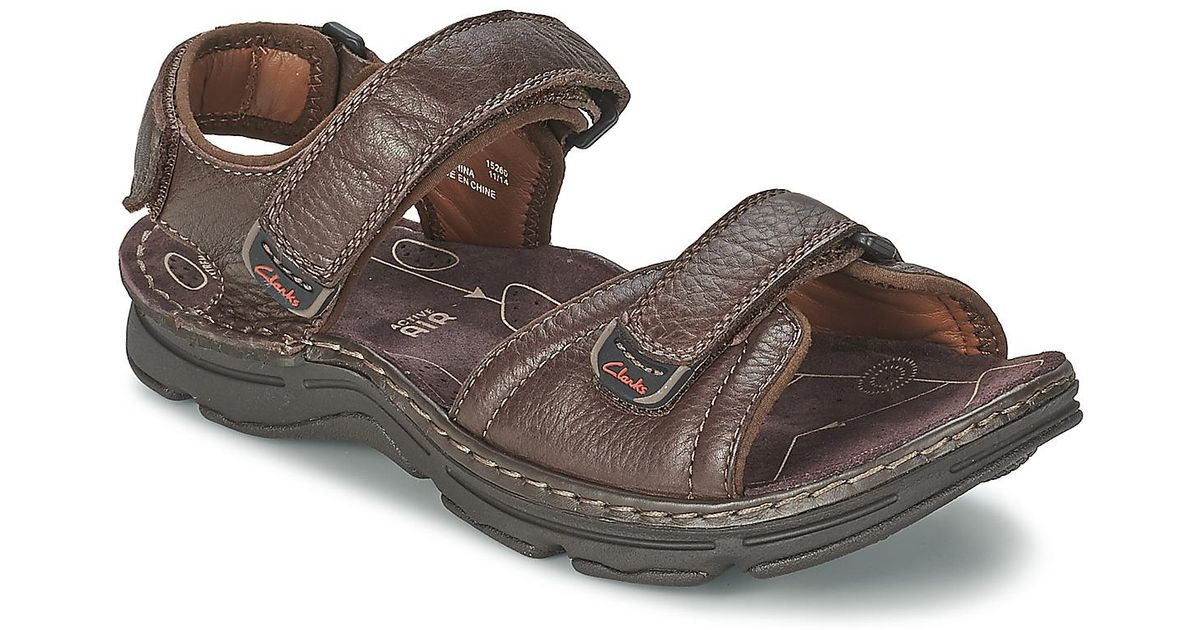 35d10ae6510 Clarks Atl Part Men s Sandals In Brown in Brown for Men - Lyst