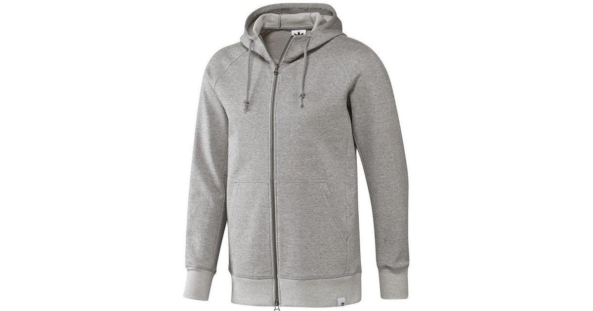 Adidas Gray Xbyo Full Zip Men's Sweatshirt In Grey for men