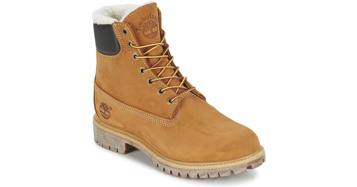 e5c0ec31bfa Timberland Natural 6 In Premium Fur/warm Lined Boot Men's Mid Boots In  Beige for men