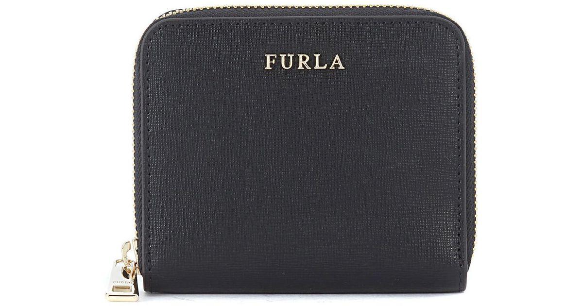 0c118be03f18 Furla - Babylon Small Black Saffiano Leather Wallet Women's Purse Wallet In  Black for Men - Lyst