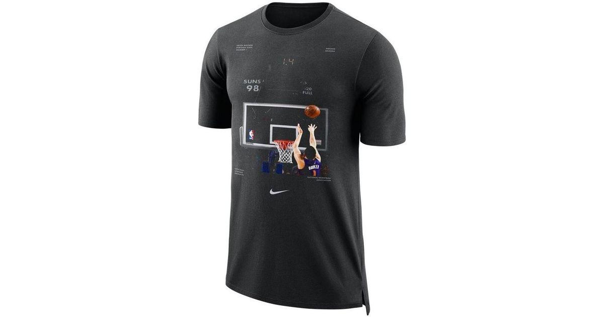 wholesale dealer 518d3 1d934 Nike Nba Dry Devin Booker Phoenix Suns Shirt Men's T Shirt In Black for men