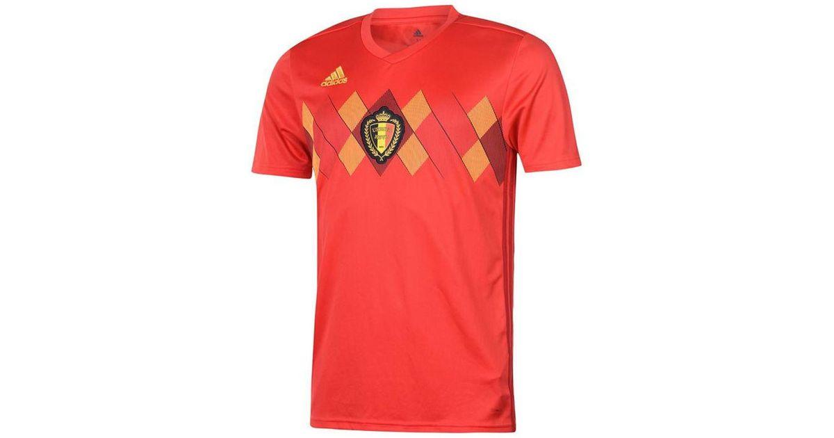 b899c67af adidas 2018-2019 Belgium Home Shirt (mertens 14) Men s T Shirt In Red in  Red for Men - Lyst