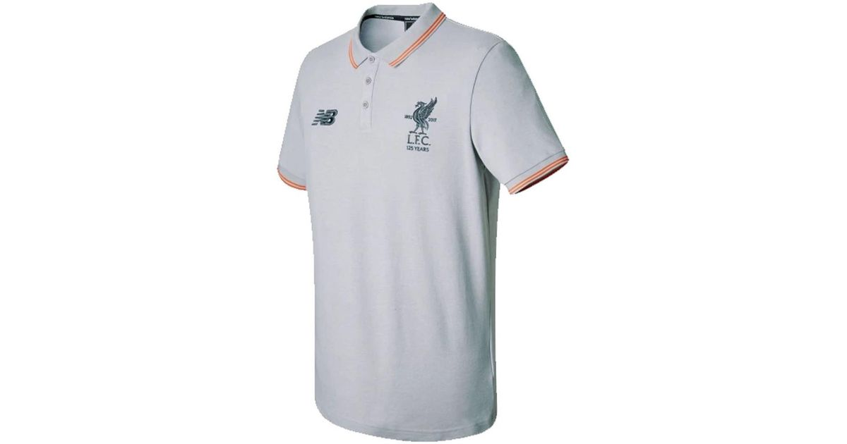 acd7b09a396bf New Balance 2017-2018 Liverpool Media Motion Polo Shirt - No Sponsor  Women's Polo Shirt In Grey in Gray for Men - Lyst