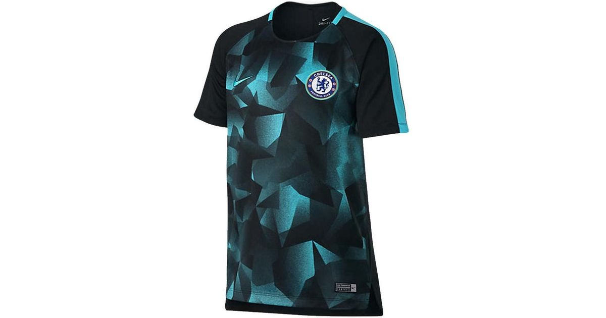 bff7065bb9c Nike 2017-2018 Chelsea Dry Squad Training Shirt - Kids Men's T Shirt In  Black in Black for Men - Lyst