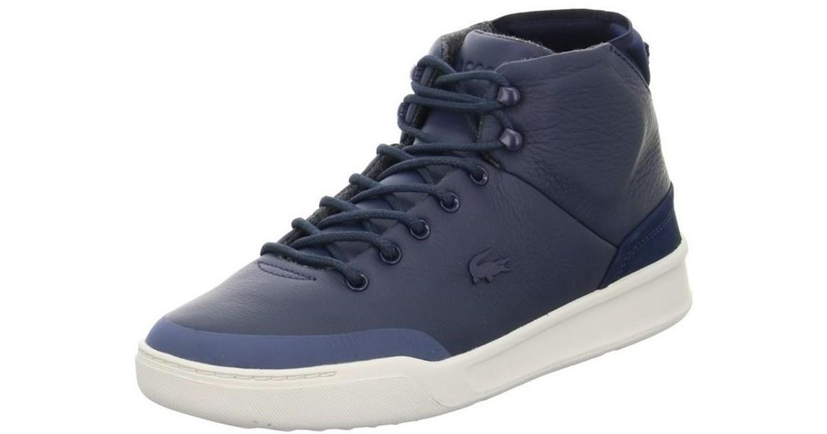 dd41b3ab2c5b27 Lacoste Explorateur Clas Men s Shoes (high-top Trainers) In Blue in Blue  for Men - Lyst