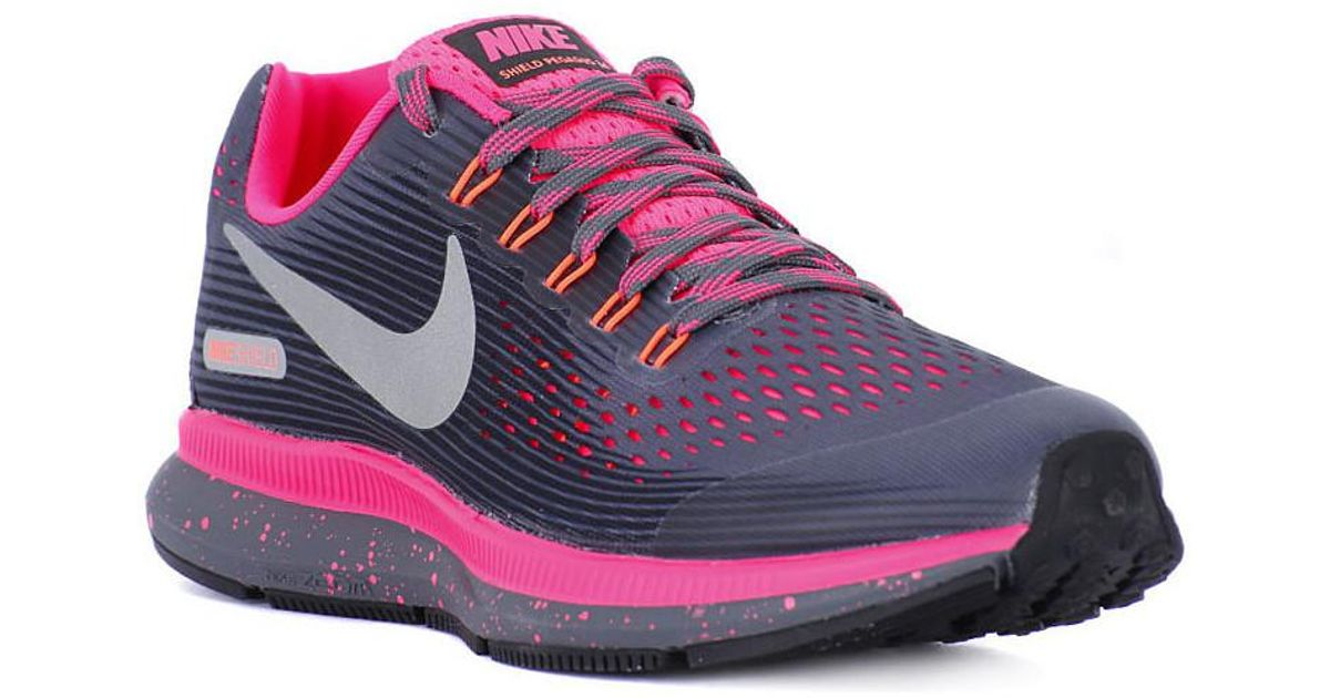 e8d5d4e7cdfc Nike Zoom Pegasus 34 Shield Gs Women s Shoes (trainers) In Grey in Gray -  Lyst