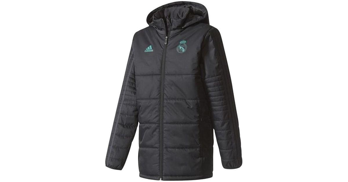 Grifo puesta de sol Reunir  adidas 2017-2018 Real Madrid Padded Winter Jacket - Kids Women's Jacket In  Black - Lyst