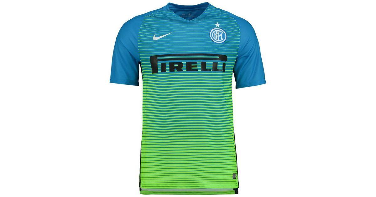 superior quality 07b0a 970d1 Nike 2016-2017 Inter Milan 3rd Football Shirt (kids) Men's T Shirt In Blue  for men