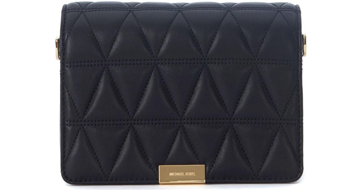 edf19f65df00 MICHAEL Michael Kors Pochette Jade In Pelle Nera Trapuntata Men's Shoulder  Bag In Black in Black for Men - Lyst