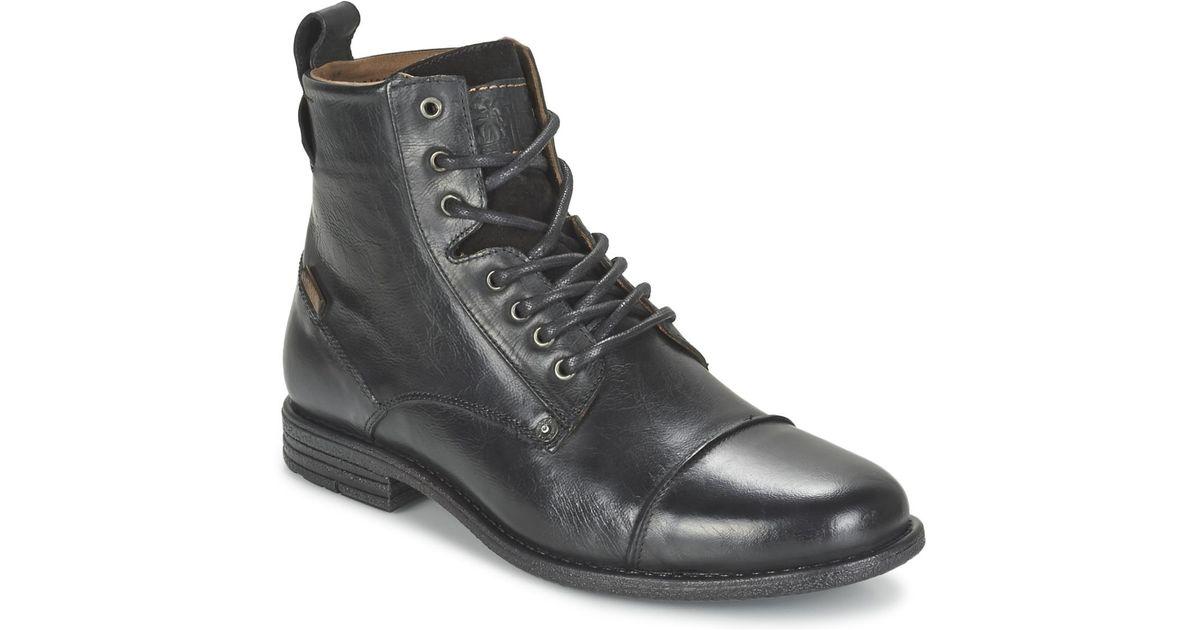 6cfc4735ac6 Levi's Levis Emerson Lace Up Men's Mid Boots In Black for men