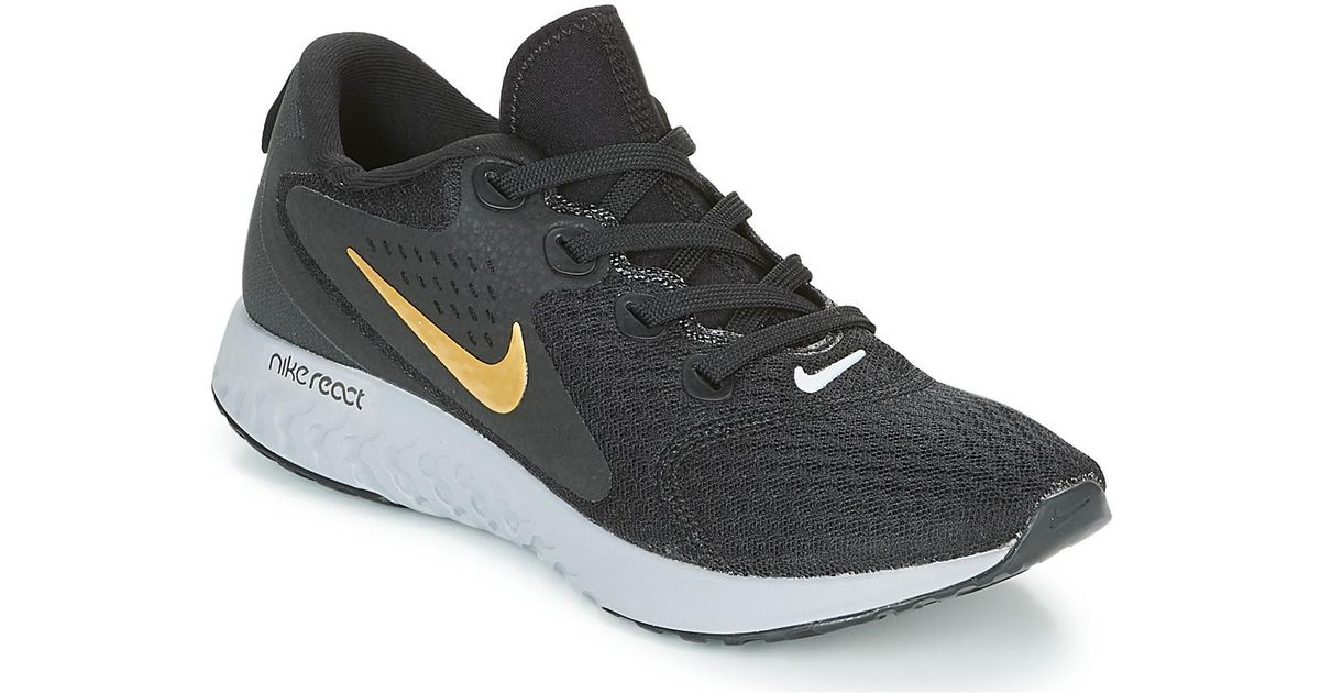 bd9f9480c60b Nike Rebel React Running Trainers in Black - Lyst