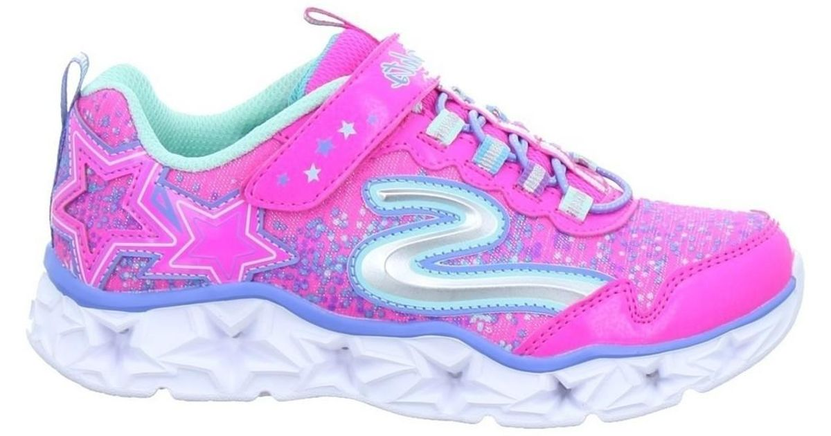 cheap for discount c477d 840a1 Skechers Purple Galaxy Lights Kinder Women's Shoes In Multicolour