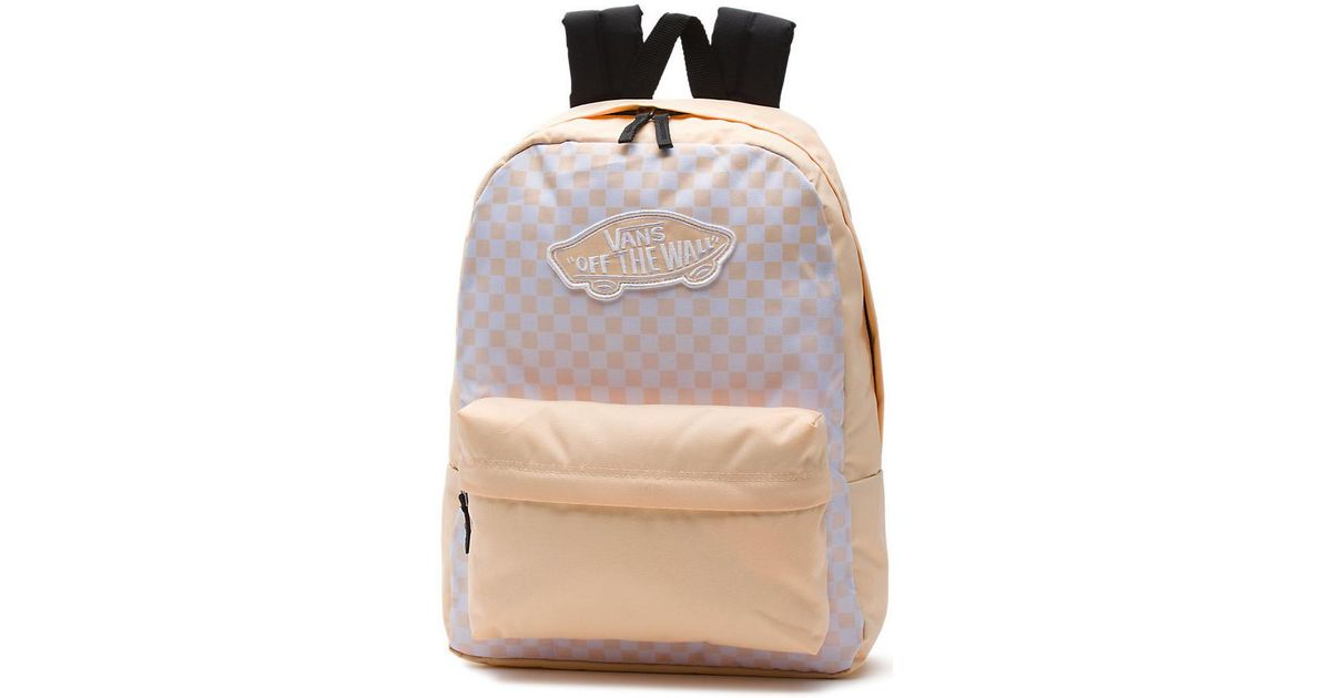 d698793c Vans Realm Backpack (bleached Apricot Checkerboard) Men's Backpack In  Yellow for men