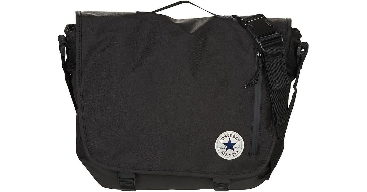 0d1d2c3239c Converse Core Poly Messenger Men s Messenger Bag In Black in Black for Men  - Lyst