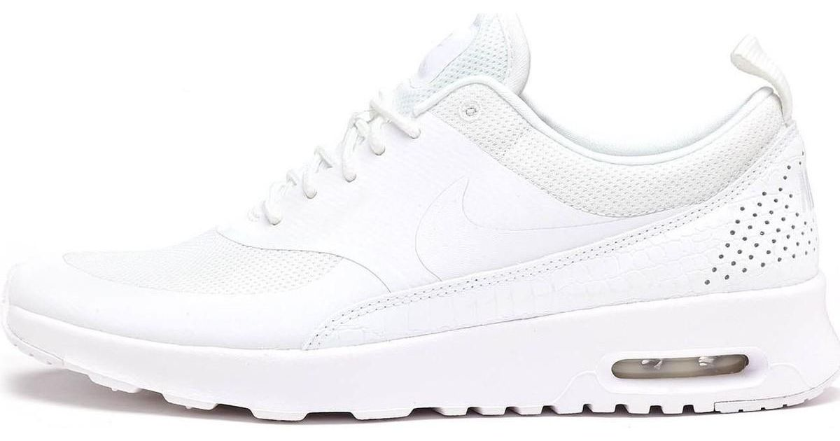 9e23546e818b3 Nike Air Max Thea Women Trainers In Triple White 599409 104 Men's Shoes  (trainers) In White for men