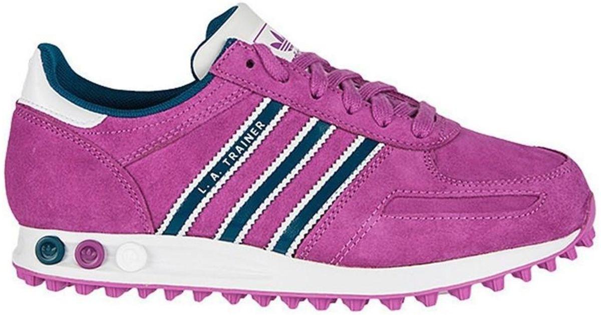adidas la trainer purple