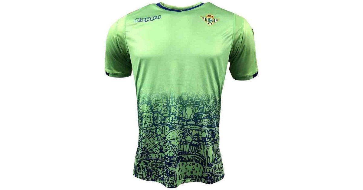 última selección de 2019 100% autentico diseño hábil Kappa 2018-2019 Real Betis Third Shirt Men's T Shirt In Green for men