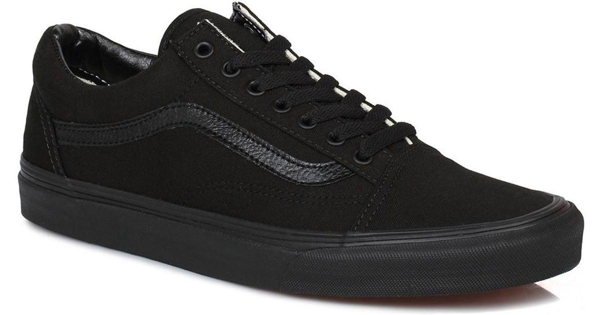 7b355b46679d0b Vans Old Skool Mens Womens Black Trainers Men s Shoes (trainers) In Black  in Black for Men - Lyst