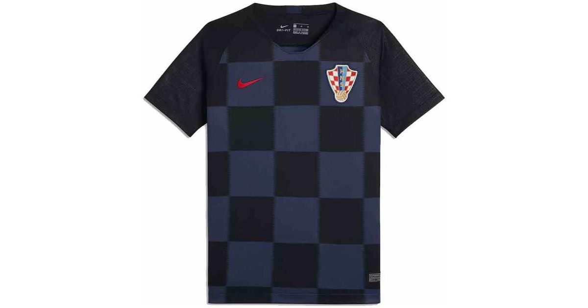 696db5907 Nike 2018-2019 Croatia Away Football Shirt (kids) Men s T Shirt In Blue in  Blue for Men - Lyst