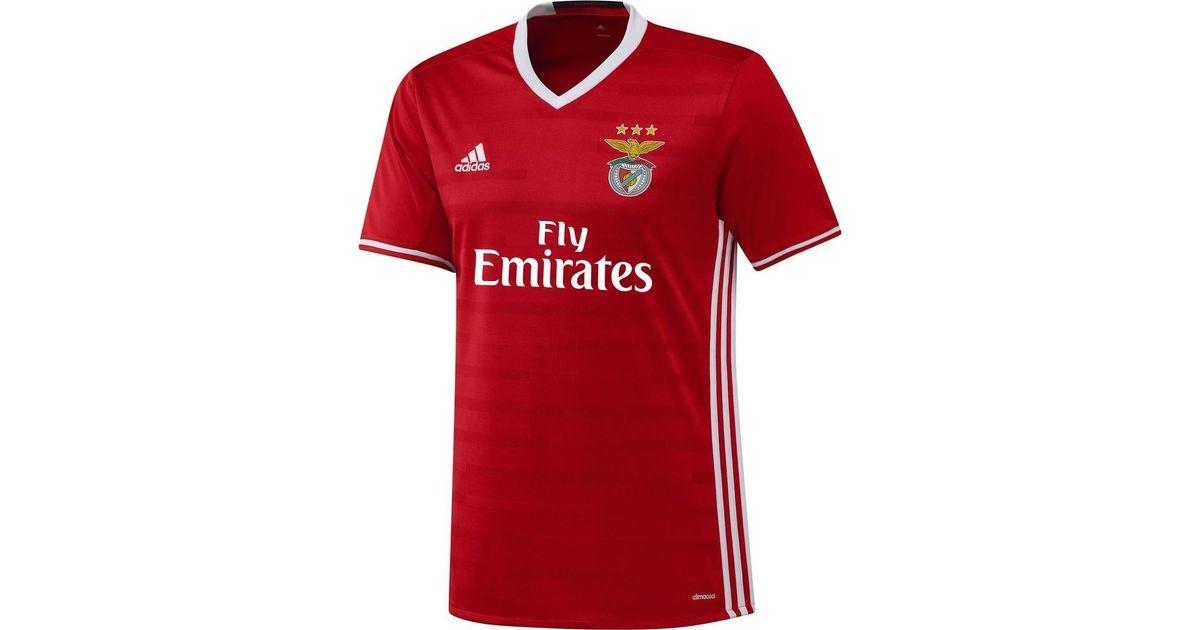 best service 150c9 cd004 Adidas 2016-17 Benfica Home Shirt (jonas 10) Women's T Shirt In Red