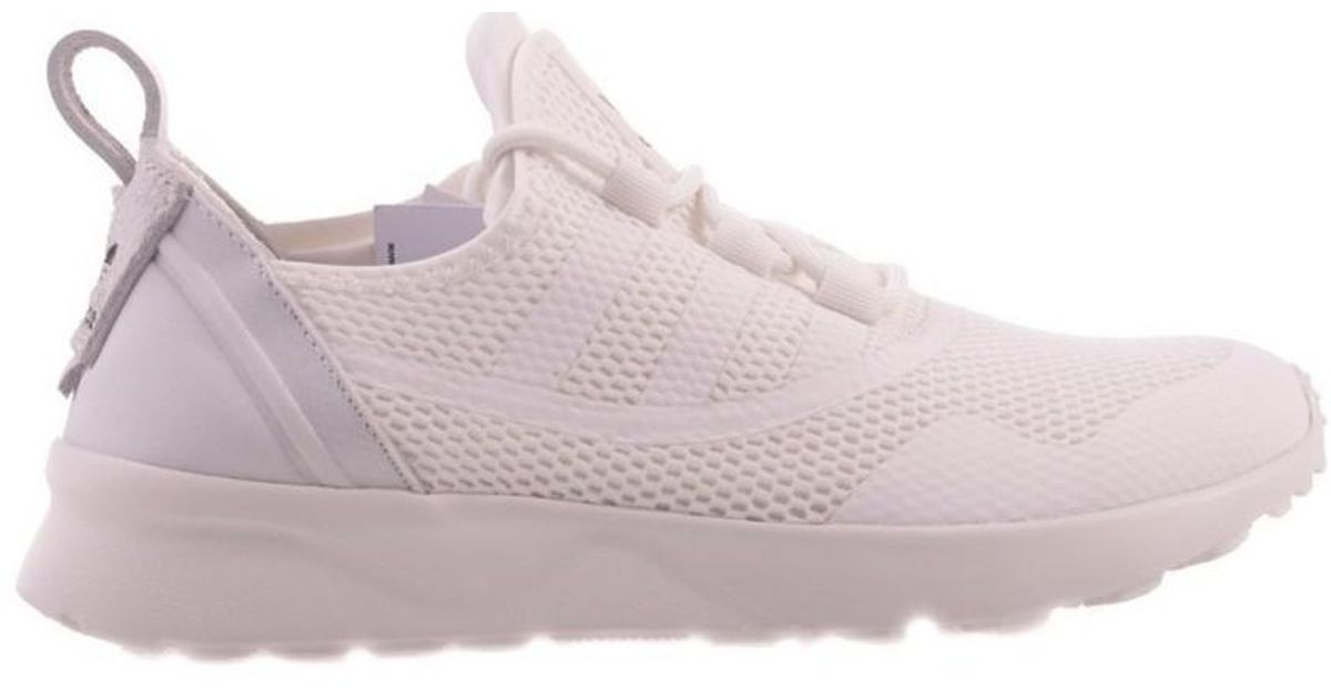 competitive price 8c7d1 a1a68 Adidas - Originals Zx Flux Adv Virtue W Women's Shoes (trainers) In White -  Lyst
