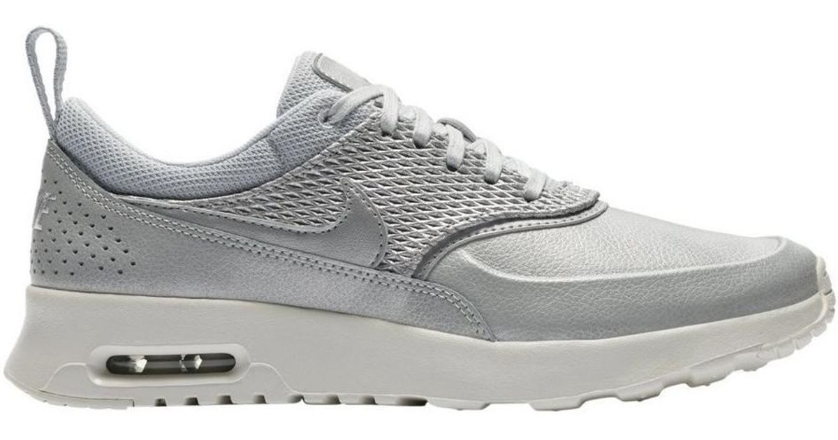 a21a581a Nike Wmns Air Max Thea Premium Leather Women's Shoes (trainers) In Silver  in Metallic - Lyst