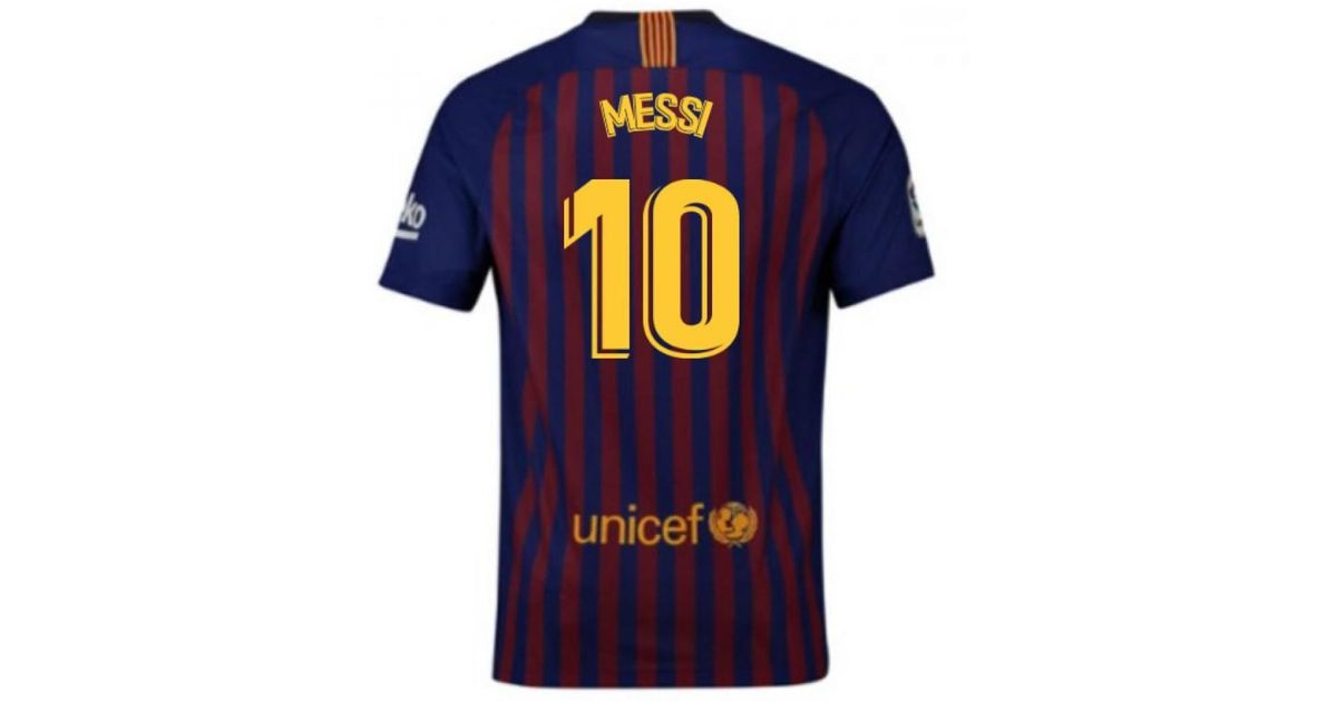 best sneakers d7913 c2be6 Nike 2018-2019 Barcelona Home Football Shirt (messi 10) Men's T Shirt In  Red for men