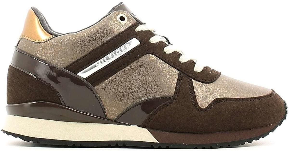 50e50f3f7 Tommy Hilfiger Fw56821999 Sneakers Women Brown Women s Shoes (trainers) In  Brown in Brown - Lyst