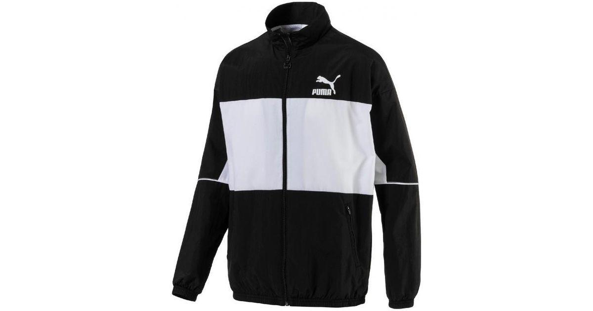 PUMA Trainingsjack Retro Woven Track Jacket in het Black voor heren
