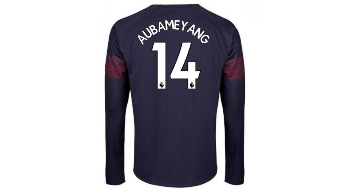 35581c1ef6f PUMA 2018-2019 Arsenal Away Long Sleeve Shirt (aubameyang 14) - Kids  Girls s In Blue in Blue for Men - Lyst