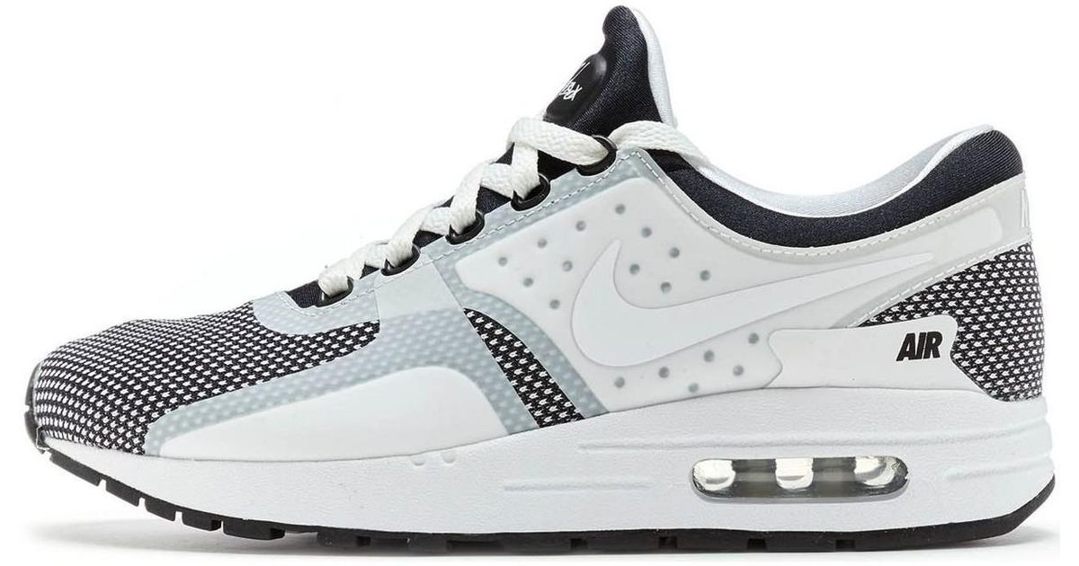 Nike Air Max Zero Essential Trainers In Black Wolf Grey White 87 Men's Shoes (trainers) In White for Men Lyst