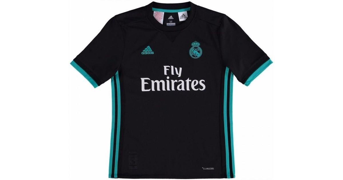 Adidas 2017-18 Real Madrid Away Shirt - Kids (zidane 5) Men s T Shirt In  Black in Black for Men - Lyst 85d42d490