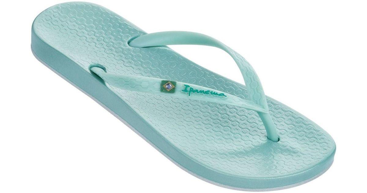 Ipanema Beach Brasil Flag Slim Footbed Flip Flops Beach Sandals 80403