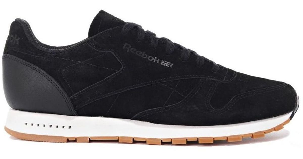 9f6e09d5685d4 Reebok Classic Leather Sg Men s Shoes (trainers) In Black in Black for Men  - Lyst