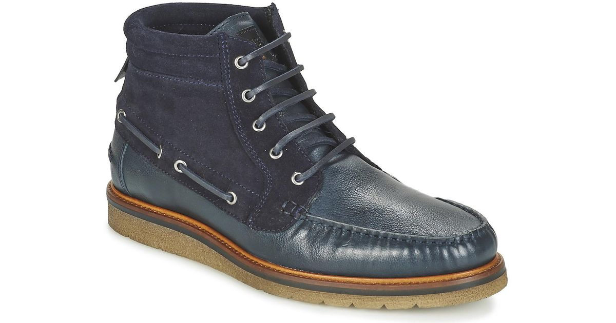 9f274a513fa BOSS Tuned Halb Men's Mid Boots In Blue for men