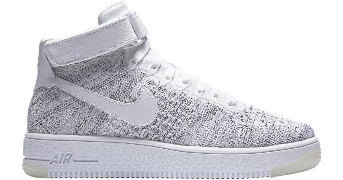 buy popular c95dc 31964 Nike W Af1 Flyknit Women's Shoes (high-top Trainers) In White