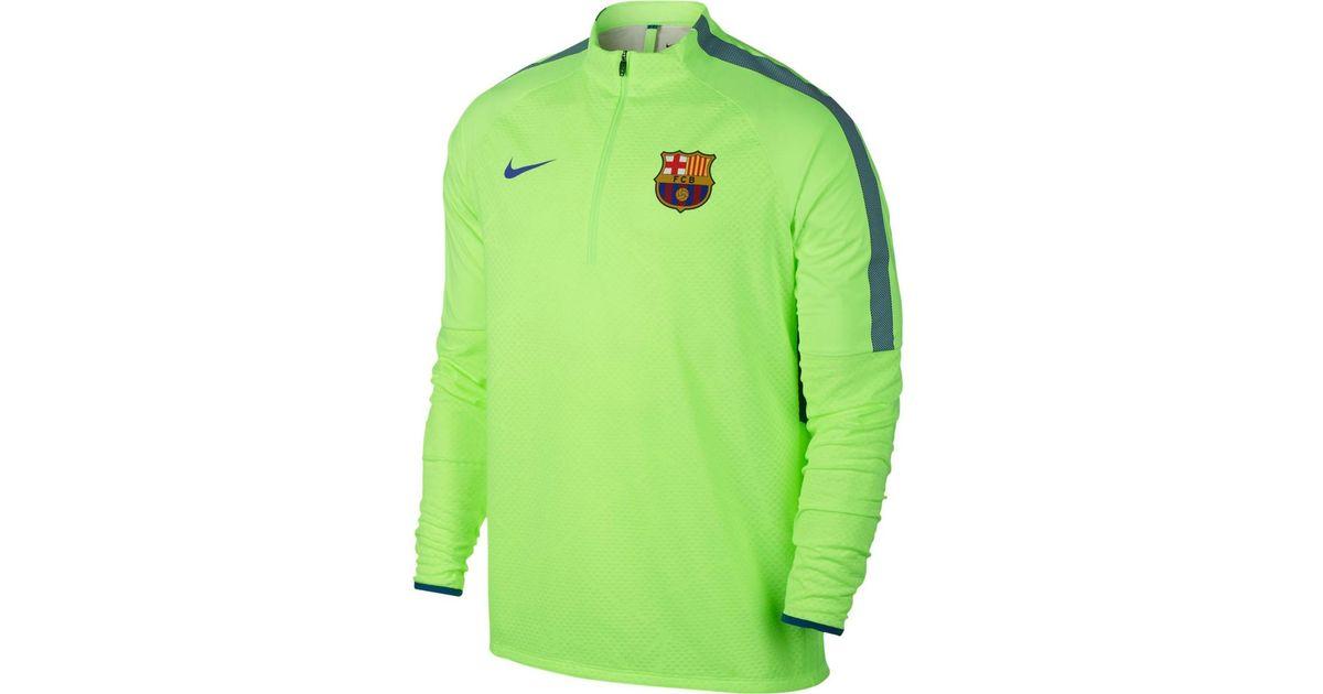 the latest b18cf 8d181 Nike 2016-2017 Barcelona Shield Strike Drill Training Top (ghost) Men's In  Green for men