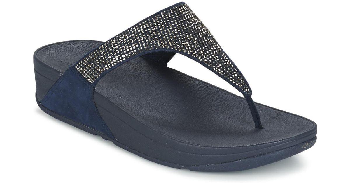 a605e6d97 Fitflop Slinky Rokkit Toe-post Women s Flip Flops   Sandals (shoes) In Blue  in Blue - Lyst