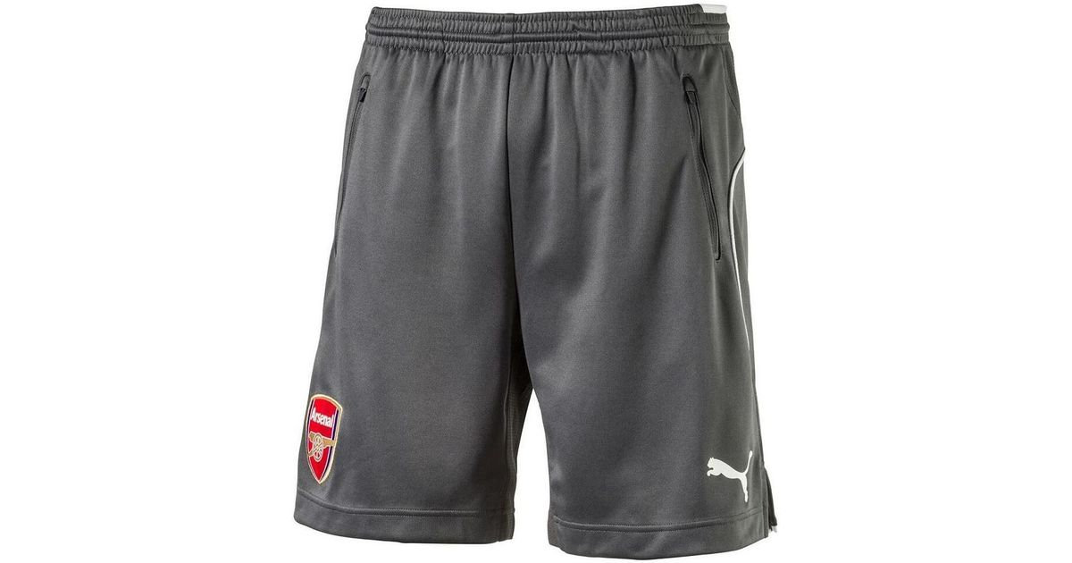 06c5a9ce1514 PUMA 2017-2018 Arsenal Training Shorts (dark Shadow) Men s Shorts In Grey  in Gray for Men - Lyst