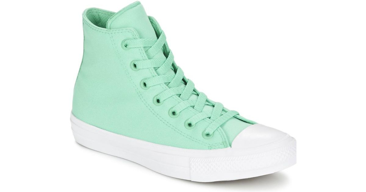 fa001456597 Converse Chuck Taylor All Star Ii Neon Hi Men s Shoes (high-top Trainers)  In Green in Green for Men - Lyst