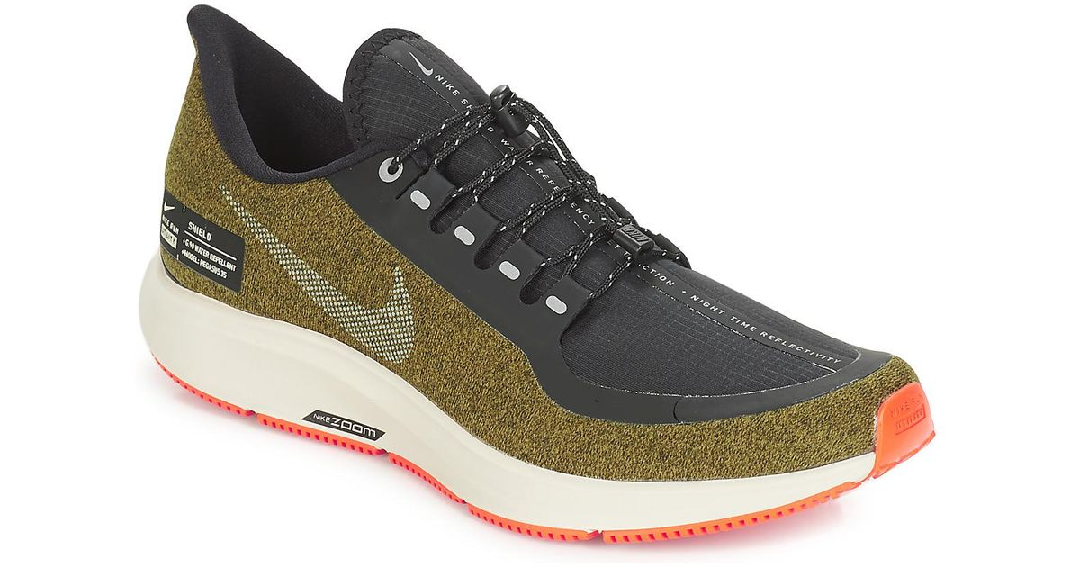 sale retailer f0cb6 f11ed Nike Green Air Zoom Pegasus 35 Shield Running Trainers for men