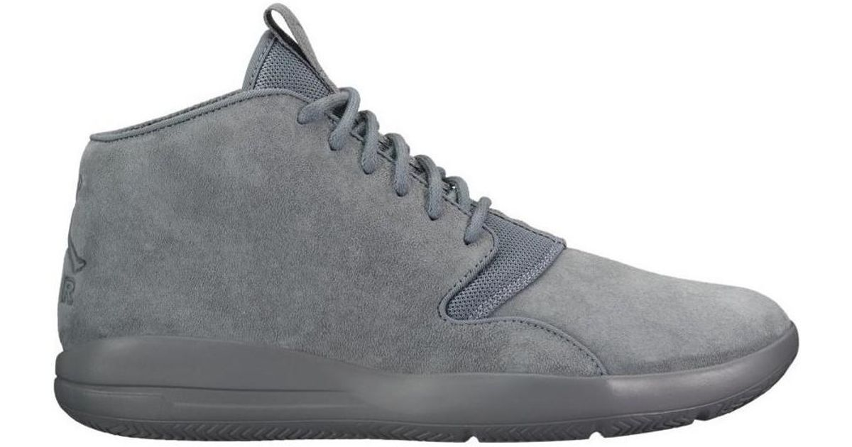 buy popular 0598e 69abf Nike Air Jordan Eclipse Chukka Leather Men s Shoes (high-top Trainers) In  Grey in Gray for Men - Lyst
