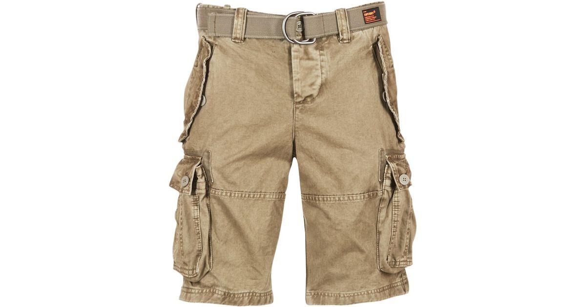 mens cargo shorts beige