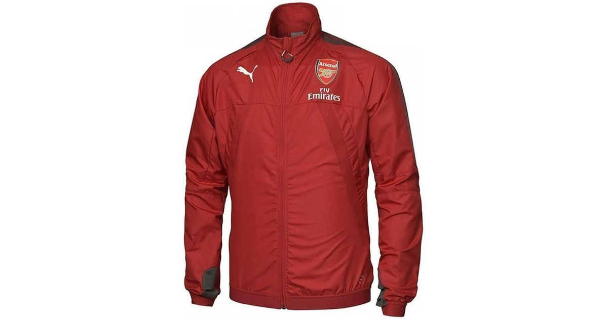 d6a45596159 PUMA 2017-2018 Arsenal Vent Stadium Thermo-r Jacket (chilli Pepper) Women s  In Red in Red for Men - Lyst