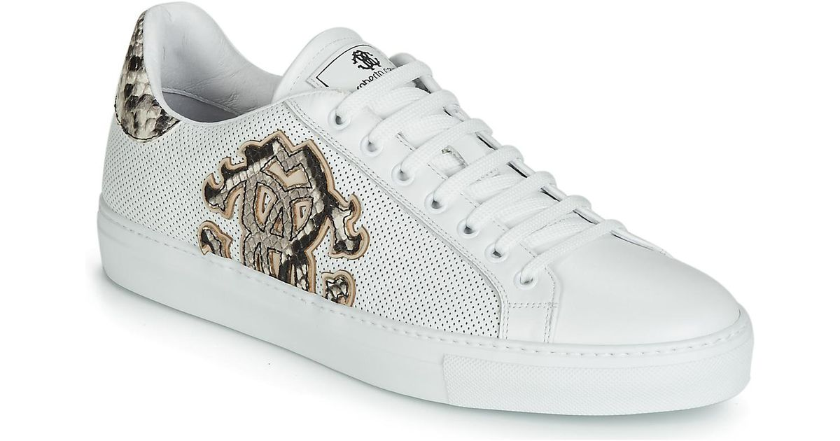 Roberto Cavalli 6620 Men S Shoes Trainers In White For