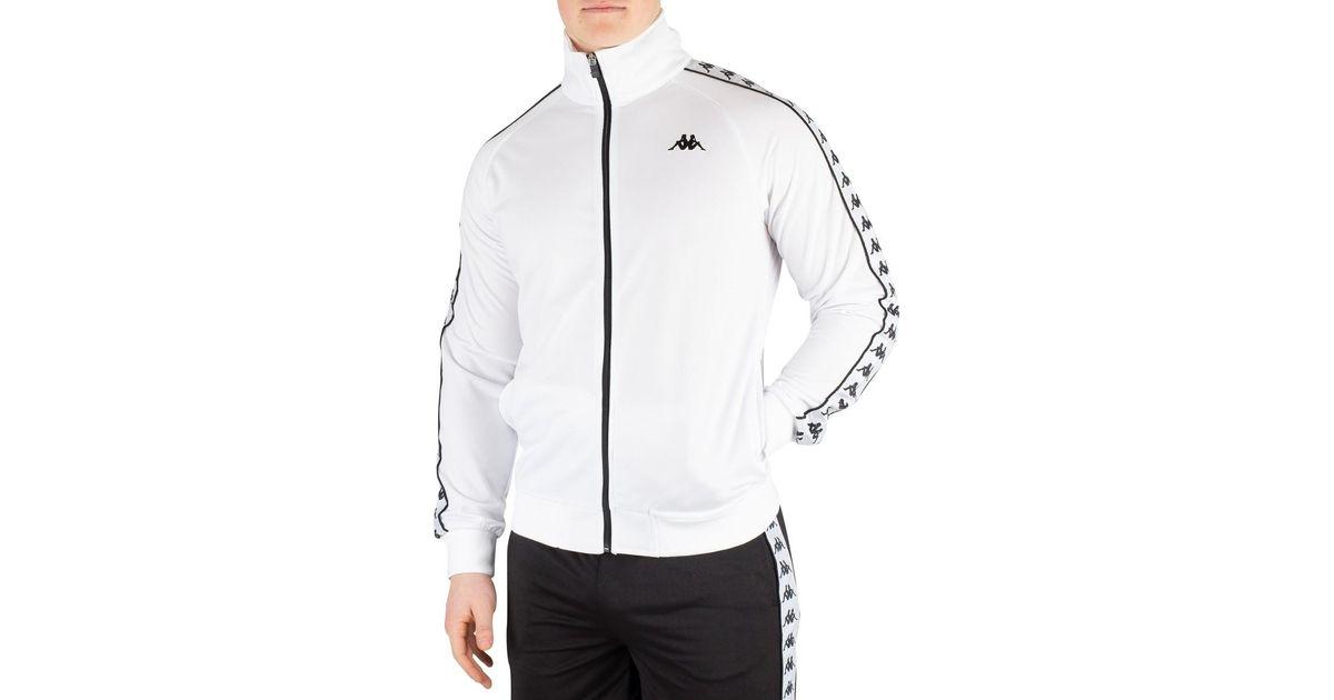 Homme 222 Banda Anniston Track Top, Blanc hommes Veste en Blanc Kappa pour homme en coloris White